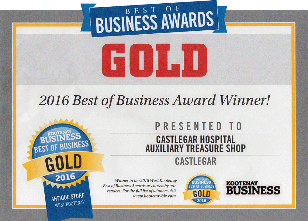 Gold Best of Business Award - 2016