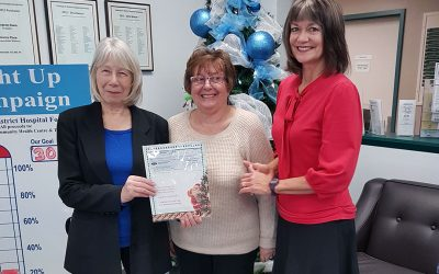 Hospital Auxiliary Society Donated $13,142.00 Through CDHF During Light Up 2018