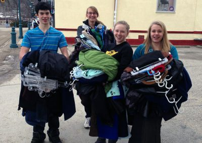Rotary Club Students Packing Clothes