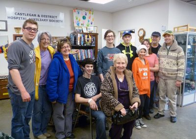 Rotary Club Students and Hospital Auxiliary Members